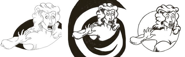 Early versions of Lucy, the mascot of the Improfessionals